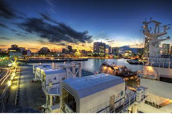 日本横滨港口码头混凝土防盐害保护工程